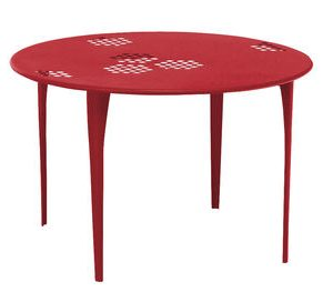 Round table Pattern 117 cm Ø Red Emu Arik Levy 1