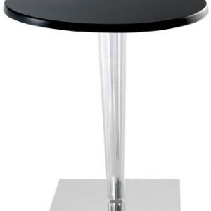 Round table laminate Top Top Kartell Philippe Starck Black 1