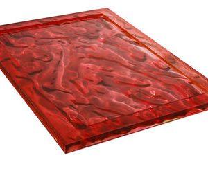 Vassoio Dune - 55 x 38 cm Rosso Kartell Mario Bellini 1
