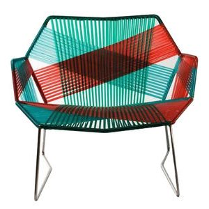 Low Tropicalia armchair Red | Green Moroso Patricia Urquiola 1