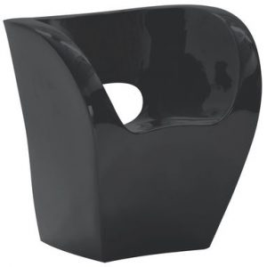 Armchair Little Albert Black lacquered Moroso Ron Arad 1