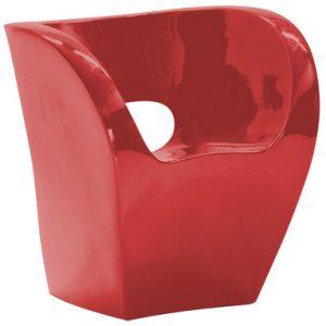 Poltrona Little Albert Rosso laccato Moroso Ron Arad 1