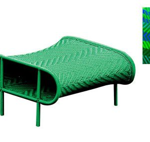 Pouf Shadowy Blue | Green Moroso Tord Boontje 1