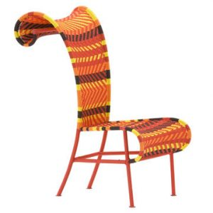 Shadowy Chair Yellow | Red | Orange | Brown Moroso Tord Boontje 1
