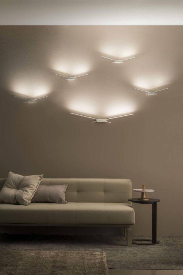 Lampada Da Parete Wings S Bianco Linea Light Group Edin Dedovic