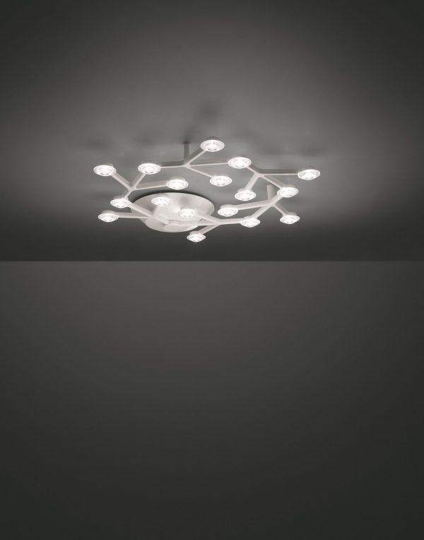 colgante de la lámpara LED de red circular blanca ARTEMIDE Michele De Lucchi | Alberto Nason 2