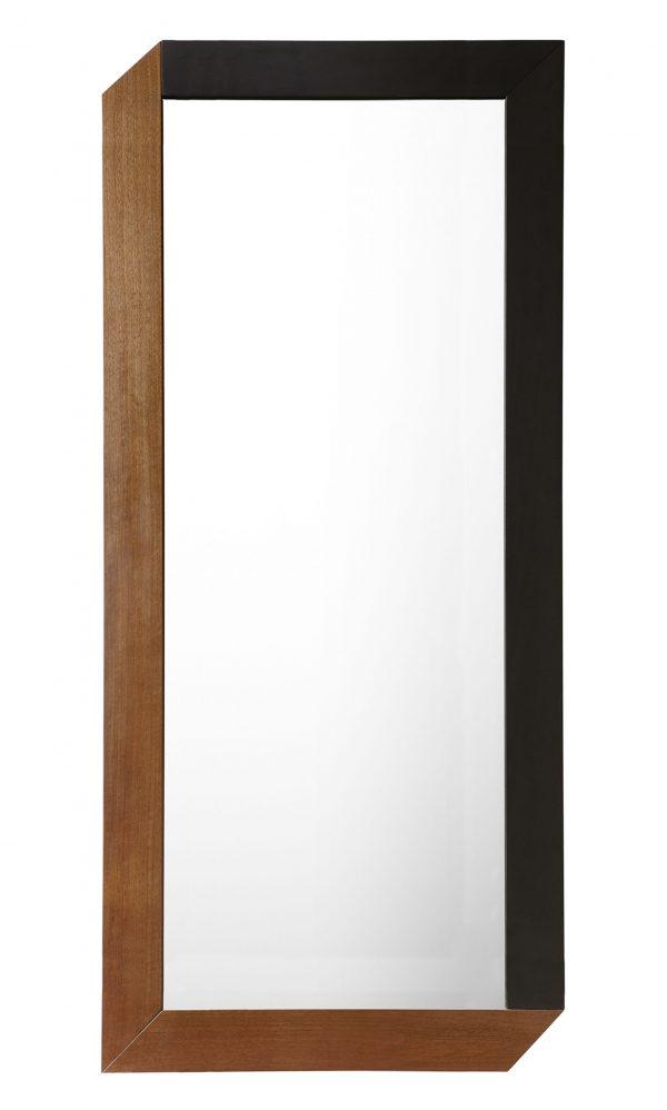 Spiegel Tusa - 40 90 x cm Schwarz | Walnut internoitaliano Giulio Iacchetti