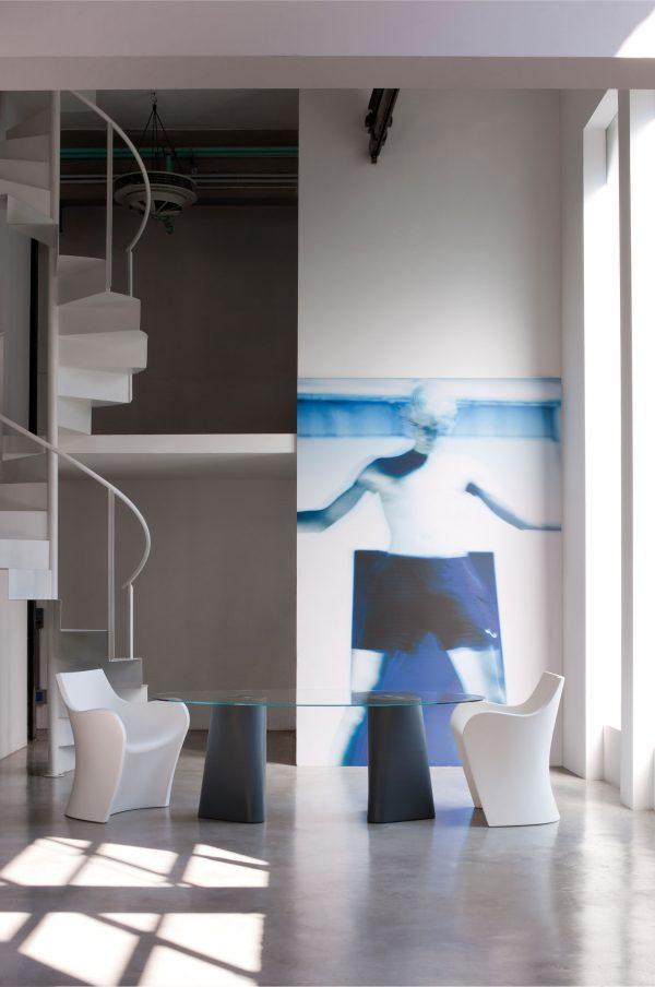 Table Adam 200 100 cm x Grey B-LINE Matteo Redaelli | Andrea Garuti | Manuela Busetti