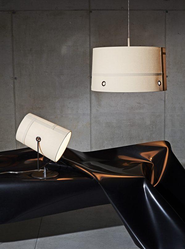 Lámpara de mesa Tenedor Maxi / H 44 cm Gray | Marfil Diesel con Foscarini Diesel equipo creativo 2