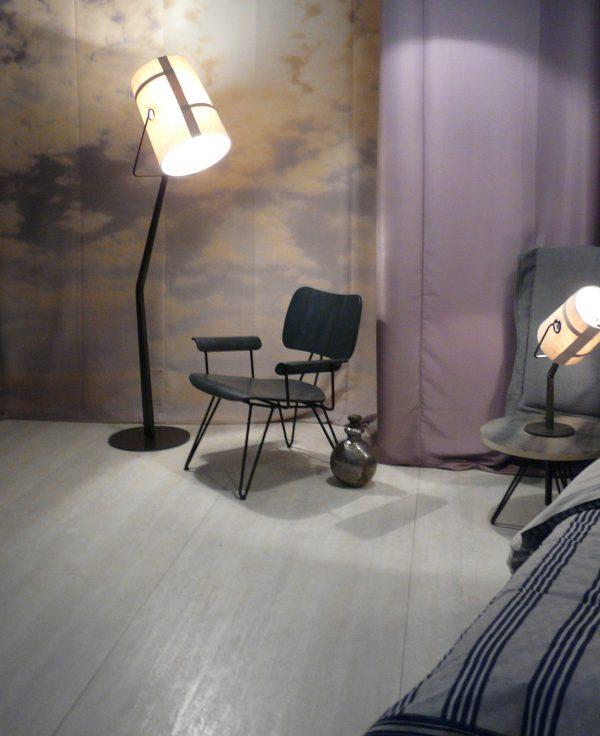 Lámpara de pie Tenedor de Marfil | Gris Diesel con Foscarini Diesel equipo creativo 2