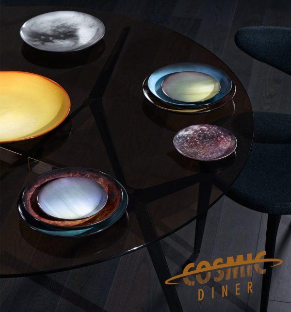 Saturn flat plate Decorated Diesel living with Seletti Diesel Creative Team 2