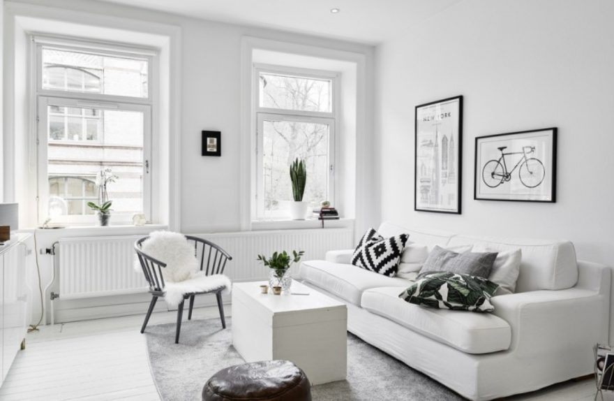 furnish with white