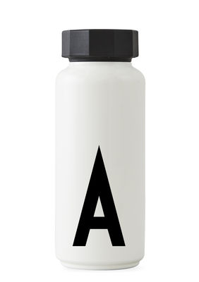 Arne Jacobsen Isothermflasche - 500 ml - Buchstabe A Weiß Design Letters Arne Jacobsen