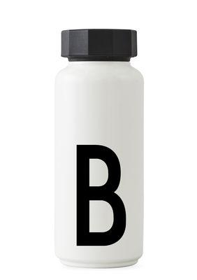 Arne Jacobsen Isothermflasche - 500 ml - Buchstabe B Weiß Design Letters Arne Jacobsen