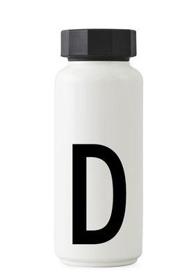 Arne Jacobsen Isothermflasche - 500 ml - Buchstabe D Weiß Design Letters Arne Jacobsen