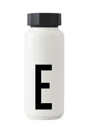 Garrafa isotérmica Arne Jacobsen - 500 ml - Letra E White Design Cartas Arne Jacobsen
