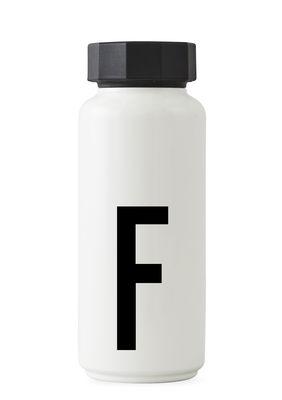Arne Jacobsen Isothermflasche - 500 ml - Buchstabe F Weiß Design Letters Arne Jacobsen