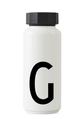 Arne Jacobsen Isothermflasche - 500 ml - Buchstabe G Weiß Design Letters Arne Jacobsen
