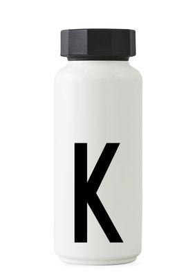 Arne Jacobsen等温ボトル -  500 ml  - レターK白のデザインレターArne Jacobsen