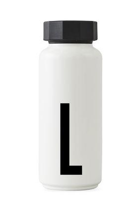 Bottiglia isotermica Arne Jacobsen - 500 ml - Lettera L Bianco Design Letters Arne Jacobsen