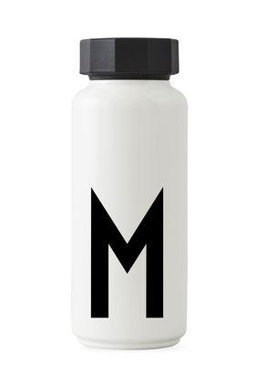 Arne Jacobsen Isothermflasche - 500 ml - Buchstabe M Weiß Design Letters Arne Jacobsen
