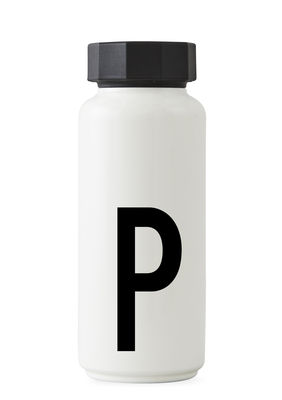 Arne Jacobsen isothermal bottle - 500 ml - Letter P White Design Letters Arne Jacobsen