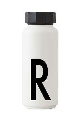 Bouteille isotherme Arne Jacobsen - 500 ml - Lettre R Lettres design blanches Arne Jacobsen