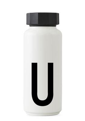 Ανοξείδωτο μπουκάλι Arne Jacobsen - 500 ml - Επιστολή U White Design Letters Arne Jacobsen