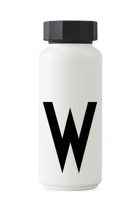 Flacon isotherme Arne Jacobsen - 500 ml - Lettre W Lettres Design Blanc Arne Jacobsen