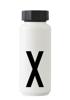 Bouteille isotherme Arne Jacobsen - 500 ml - Lettres Design Blanc Lettre X Arne Jacobsen