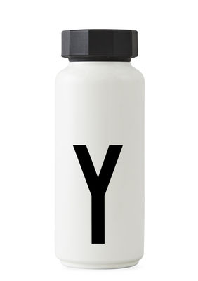 Arne Jacobsen isothermal bottle - 500 ml - Letter Y White Design Letters Arne Jacobsen