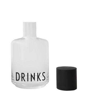Arne Jacobsen jarra - 0,5 L Negro | Letras de diseño transparente Arne Jacobsen