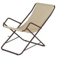 Chaise longue folding Bahama Brown | Beige Emu Research Centre Emu 1