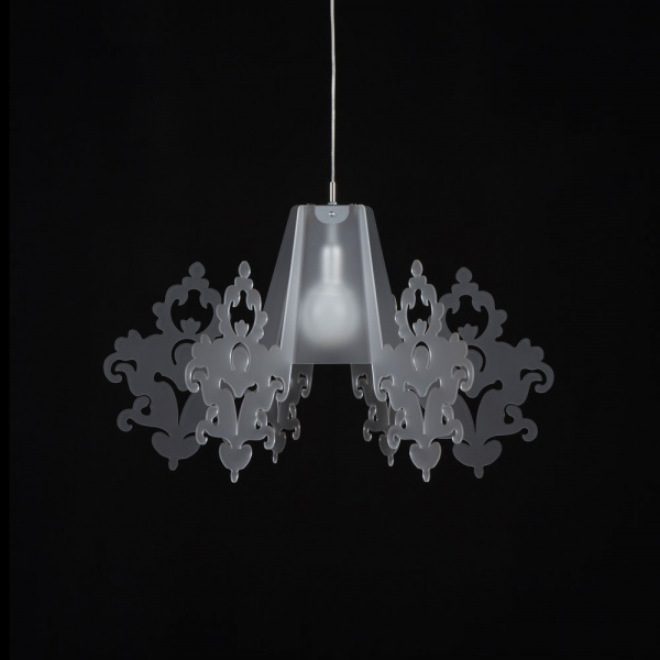 Suspension lamp Amarilli Satin white Emporium Roberto Giacomucci