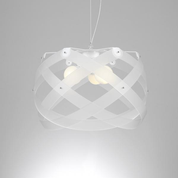 Nuclea maxi suspension lamp Satin white Emporium Roberto Giacomucci
