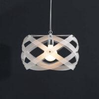 Lámpara de suspensión mediana Nuclea blanco satinado Emporium Roberto Giacomucci