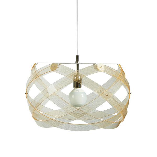 Lámpara colgante Nuclea mediana Textura Oro Emporio Roberto Giacomucci