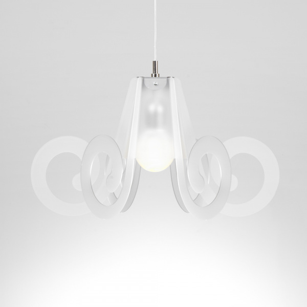 Ricciolino suspension lamp Satin white Emporium Roberto Giacomucci
