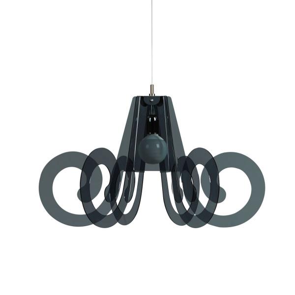 Lampe à suspension Ricciolino Fumé Emporium Roberto Giacomucci