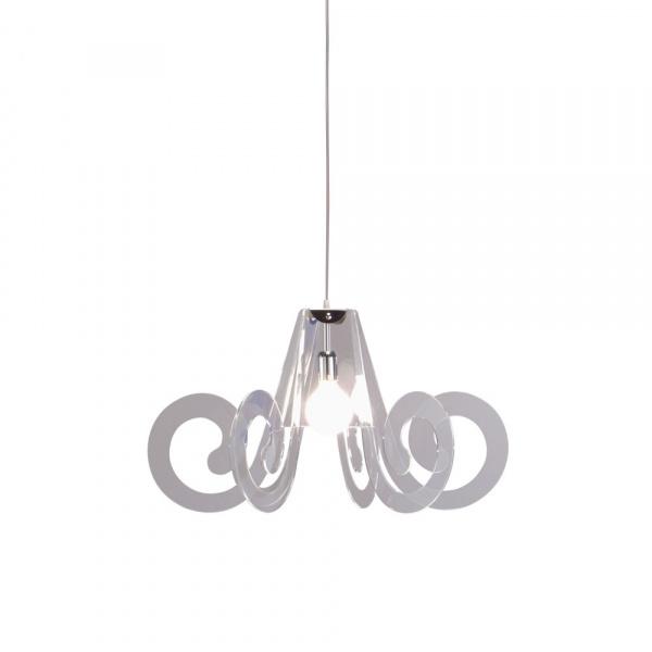 Pendant lamp Curly Transparent Emporium Roberto Giacomucci
