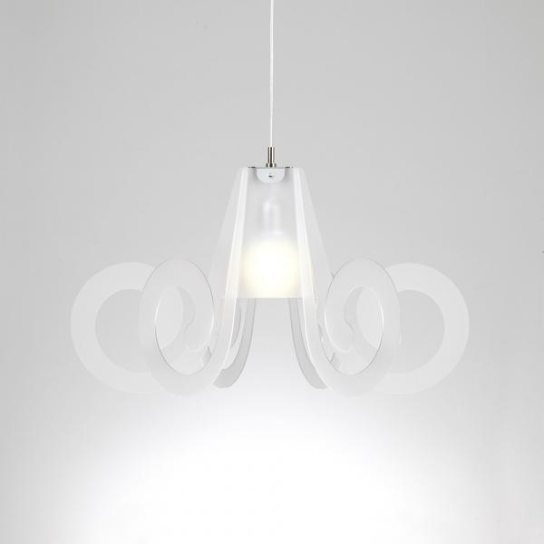 Ricciolo lámpara de suspensión blanco satinado Emporio Roberto Giacomucci