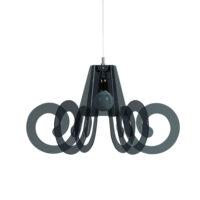 Lampe à suspension Ricciolo Fumé Emporium Roberto Giacomucci