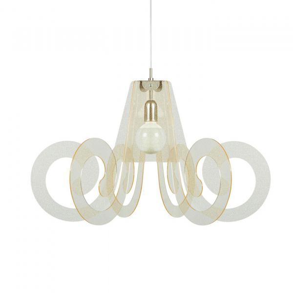 Suspension lamp Ricciolo Texture Gold Emporium Roberto Giacomucci