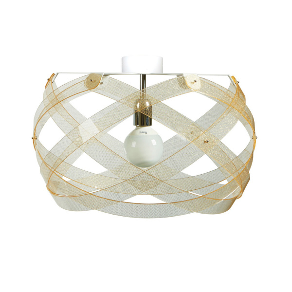Lampada da soffitto Nuclea mini Texture Gold Emporium Roberto Giacomucci