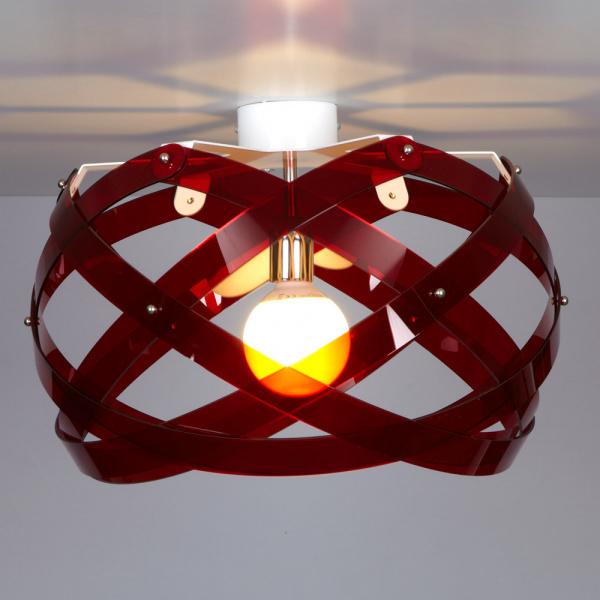Ceiling lamp Nuclea up B Rosso Emporium Roberto Giacomucci