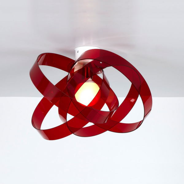 Nuvola PL Lâmpada do teto vermelho Emporium Roberto Giacomucci