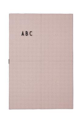 A3 Φως Σχιστόλιθος - L 30 x H 42 cm Ροζ Σχεδιασμός Γράμματα