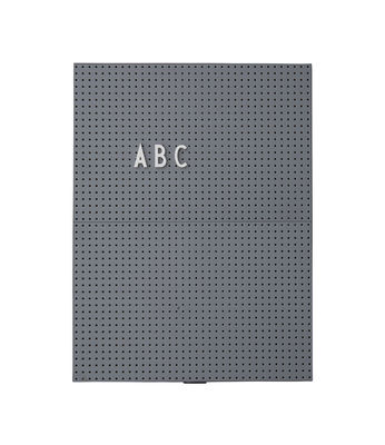 A4 Light Slate - L 21 x H 30 cm Dark Grey Design Letters
