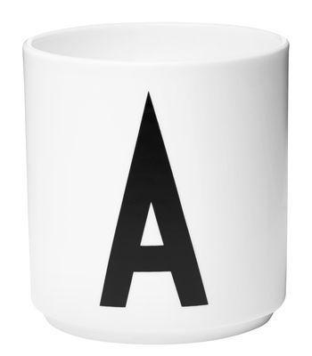 Mug Arne Jacobsen Letter A White Design Letters Arne Jacobsen