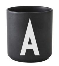 Mug Arne Jacobsen Letter A Black Design Letters Arne Jacobsen